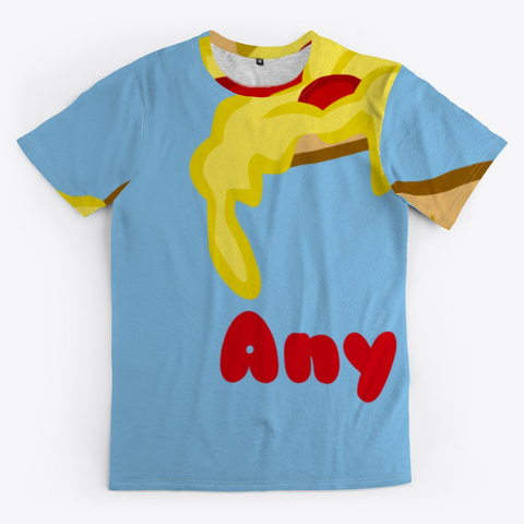 Pizza Any Time All Over Print Unisex Tee Image 2_Front