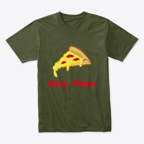 Pizza Any Time Premium Tee Image 3