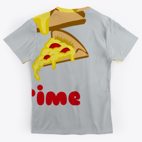 Pizza Any Time All Over Print Unisex Tee Image 1_Back