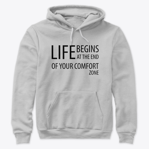 """""""Life begins at the end of your comfort zone"""" Premium Pullover Hoodie Image 2"""