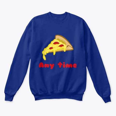 Pizza Any Time Classic Crewneck Sweatshirt Image 1