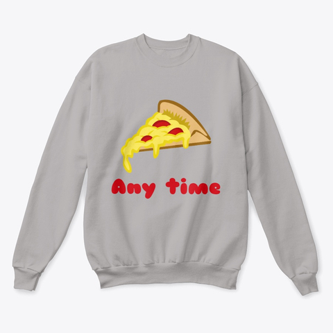 Pizza Any Time Classic Crewneck Sweatshirt Image 2