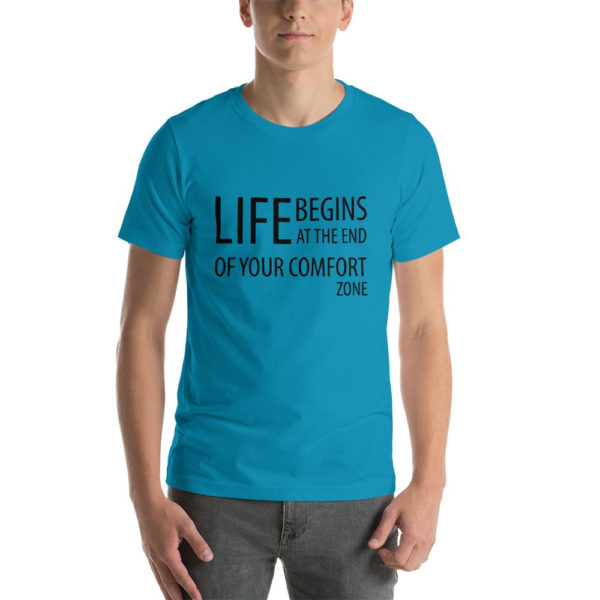 Life Begins at the end of the comfort zone Men's T-Shirt- Image 3