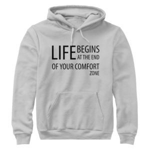 Life begins at the end of your comfort zone - Premium pullover hoodie Image 1