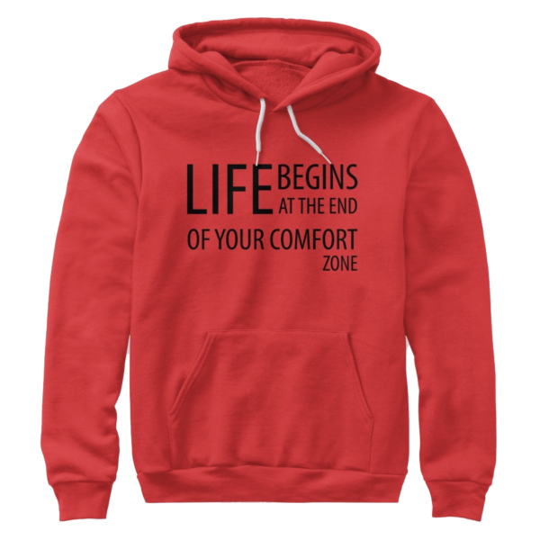 Life begins at the end of your comfort zone - Premium pullover hoodie Image 2