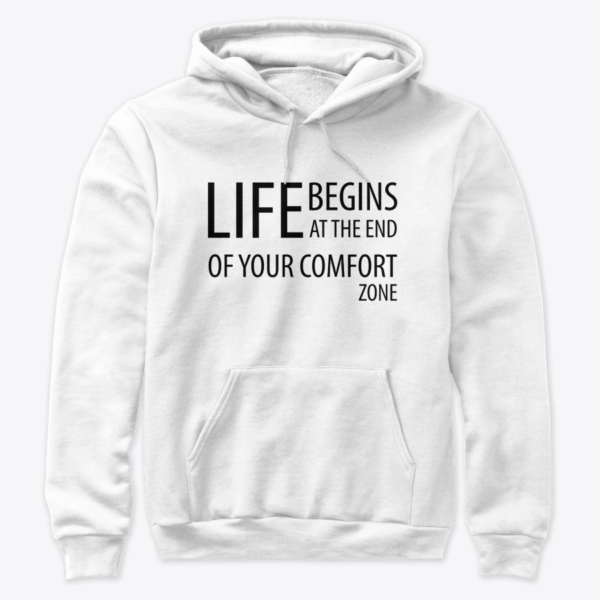 Life begins at the end of your comfort zone - Premium pullover hoodie Image 3