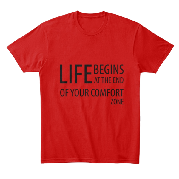 Life begins at the end of your comfort zone - Comfort tee Image 3