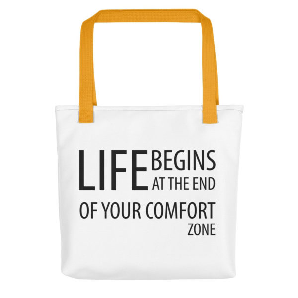 Life Begins at the end of the comfort zone All-Over Tote - Image 2